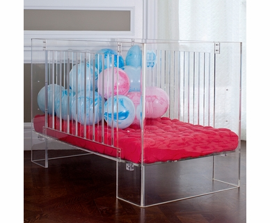 Nursery Works Vetro Crib in Clear Acrylic