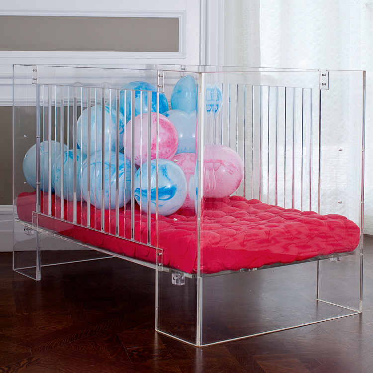 Nurseryworks Vetro Crib in Clear Acrylic