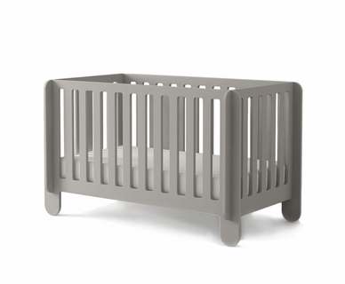 Oeuf Elephant Convertible Crib in Grey