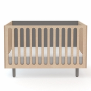 Oeuf Fawn Crib to Bassinet in Gray and Birch