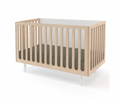 Oeuf Fawn Crib to Bassinet in White/Birch