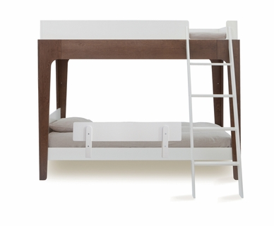 Oeuf Perch Bunk Bed in White and Walnut