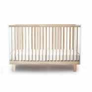 Oeuf Rhea Crib in Birch and White