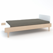 Oeuf River Twin Bed in White/Birch
