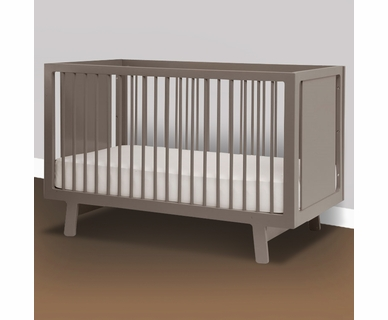 Oeuf Sparrow Collection Crib in Grey