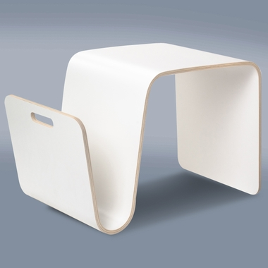 Offi MAG Table In White Laminate   Click To Enlarge