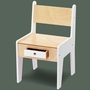Offi Mini-Drawer Chair in White