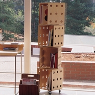 Offi Perf Boxes in 4 stack with casters