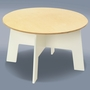 Offi Play-a-Round Activity Table in White (Chair sold separately)