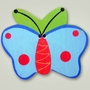 One World Kids Butterfly Blue/Green Back Set of 4 Drawer Knobs