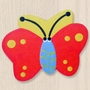 One World Kids Butterfly Red/Yellow Back Set of 4 Drawer Knobs