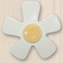 One World Kids Daisy White with Bright Yellow Center Set of 4 Drawer Knobs