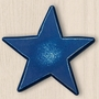 One World Kids Distressed Star  Blue Set of 4 Drawer Knobs