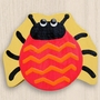 One World Kids Lady Bug Red/Yellow Back Set of 4 Drawer Knobs