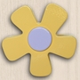 One World Kids Pastel Daisy Yellow Set of 4 Drawer Knobs