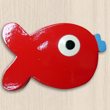 One World Kids Puffer Fish Red Set of 4 Drawer Knobs - Click to enlarge