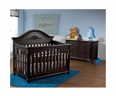 Pali 2 Piece Nursery Set - Gardena Forever Crib and Double Dresser in Mocacchino