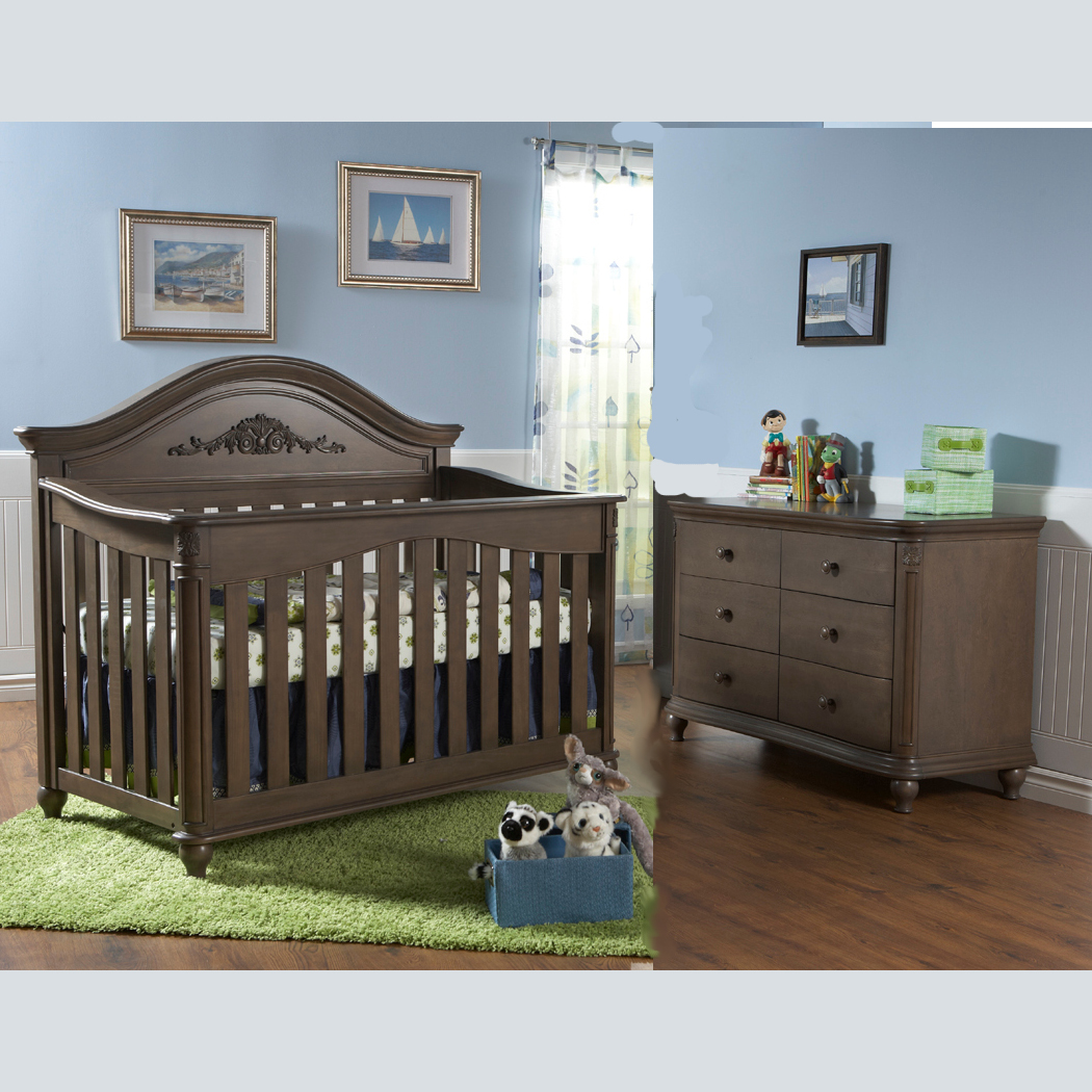 Pali 2 Piece Nursery Set   Gardena Forever Crib And Double Dresser In White  FREE SHIPPING