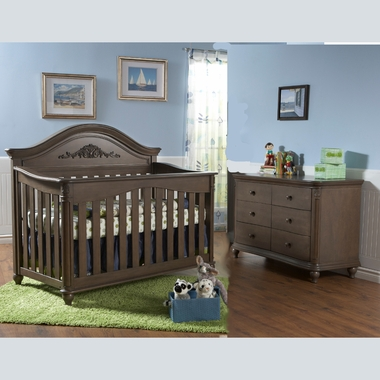 Pali 2 Piece Nursery Set   Gardena Forever Crib And Double Dresser In  Mocacchino FREE SHIPPING