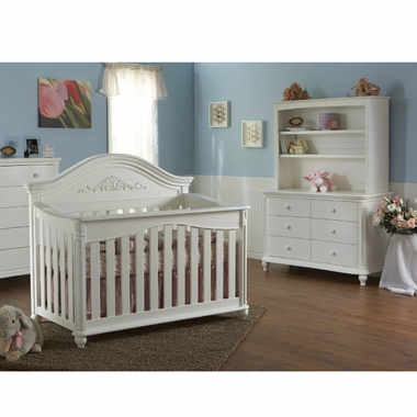 Attrayant Pali 2 Piece Nursery Set   Gardena Forever Crib And Double Dresser In White    Click