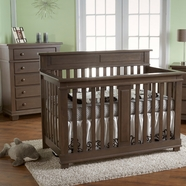 Pali 2 Piece Nursery Set - Torino Forever Crib and 5 Drawer Dresser in Slate