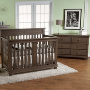 Pali 2 Piece Nursery Set - Torino Forever Crib and Double Dresser in Slate