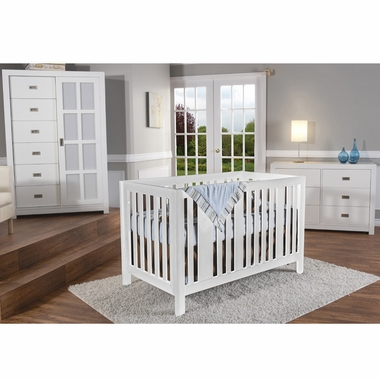 Pali 3 Piece Nursery Set   Imperia Forever Crib, Novara Double Dresser And  Armoire In