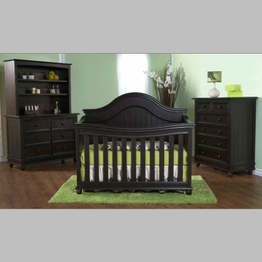 Pali 3 Piece Nursery Set Marina Forever Crib Double Dresser And 5 Drawer Dresser In Onyx Free Shipping