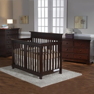 Pali 3 Piece Nursery Set - Torino Crib, Torino Double Dresser and Torino 5 Drawer Dresser in Mocacchino