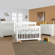 Pali Volterra 4 In 1 Convertible Forever Crib In White
