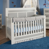 Pali Cortina Convertible Crib in White & Grey