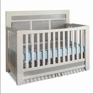 Pali Cortina Convertible Crib in Grey and White