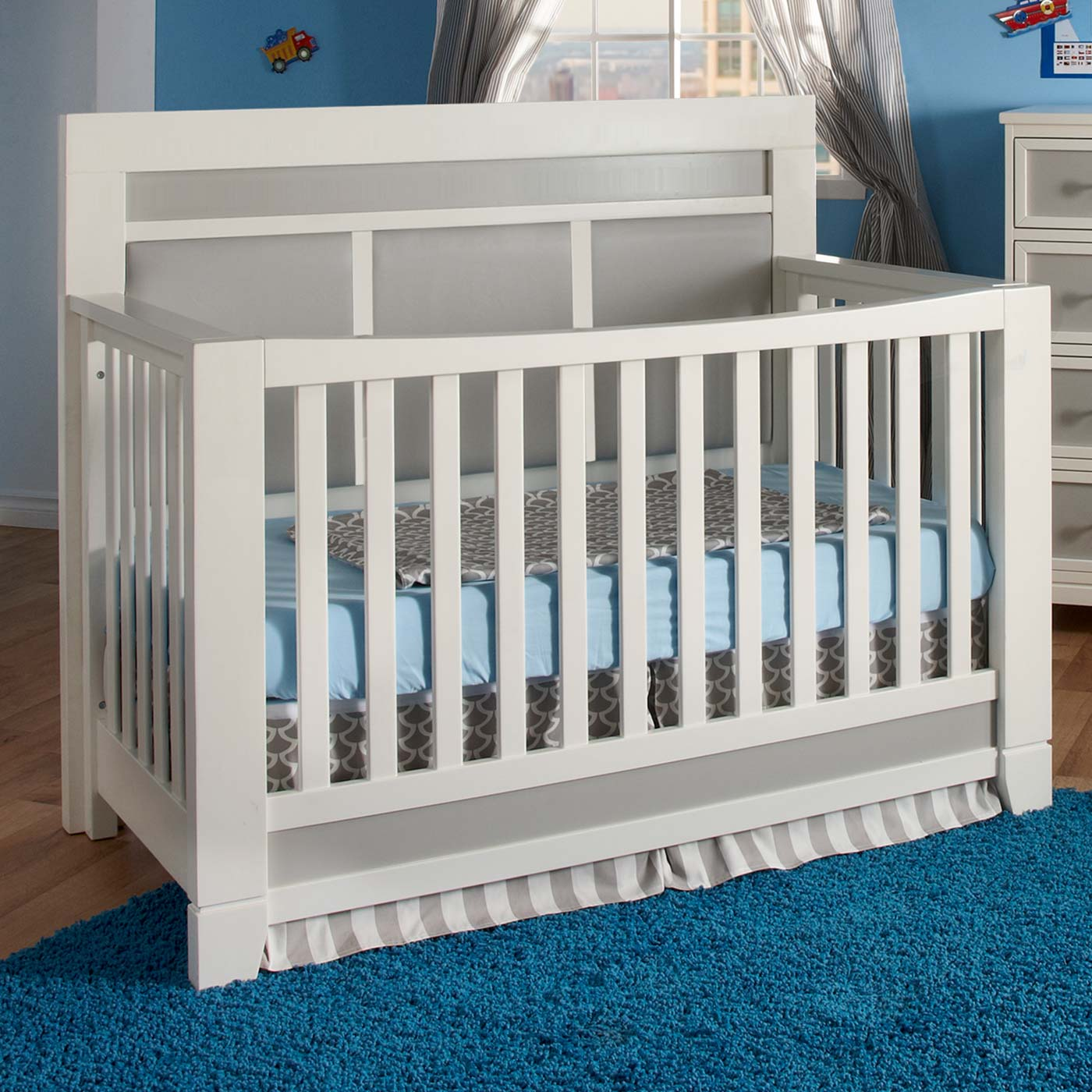 Pali crib for sale used - Pali Cortina Forever Crib In White And Grey