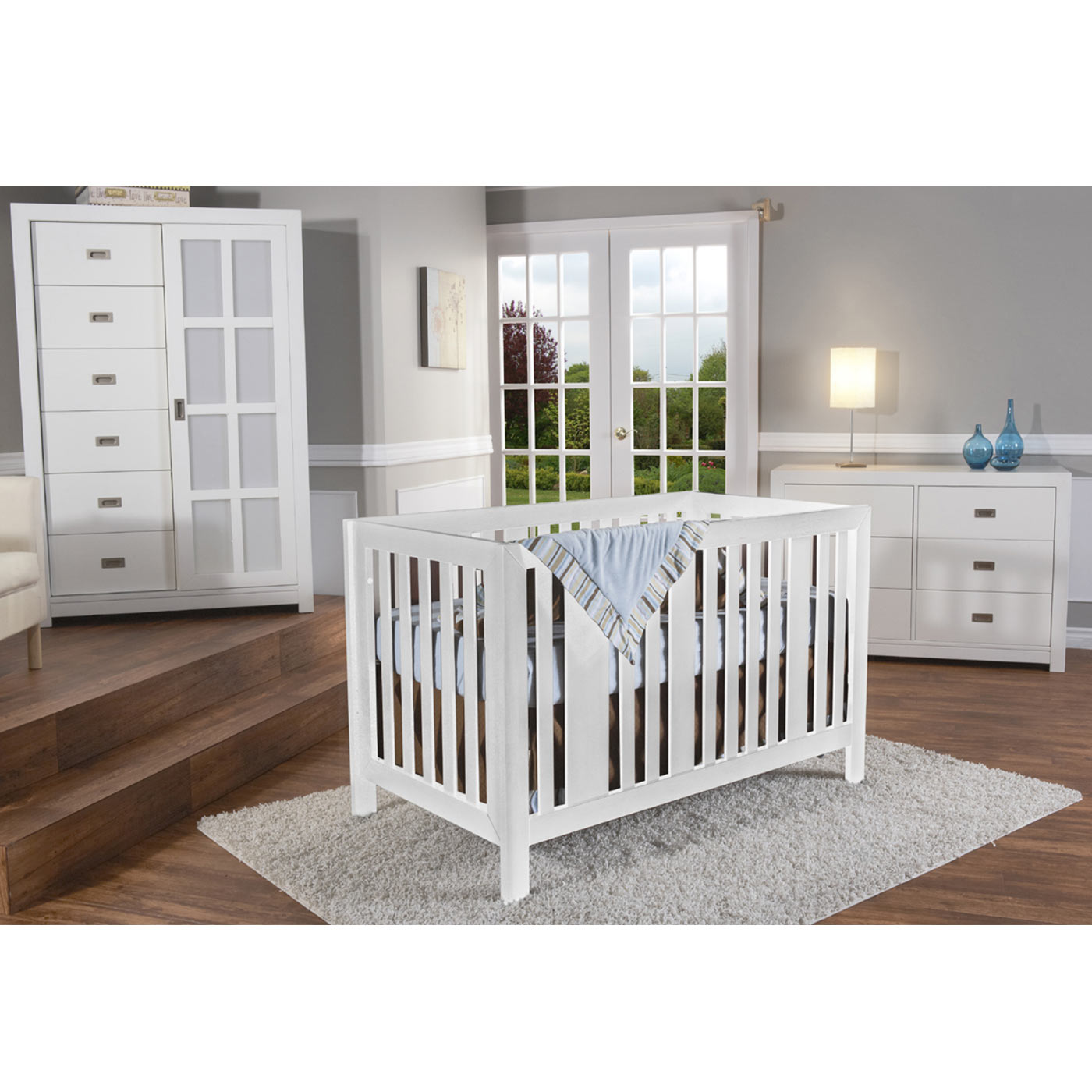Pali Imperia Forever Crib in White FREE SHIPPING $539 00