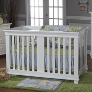 Pali Lucca Crib in White