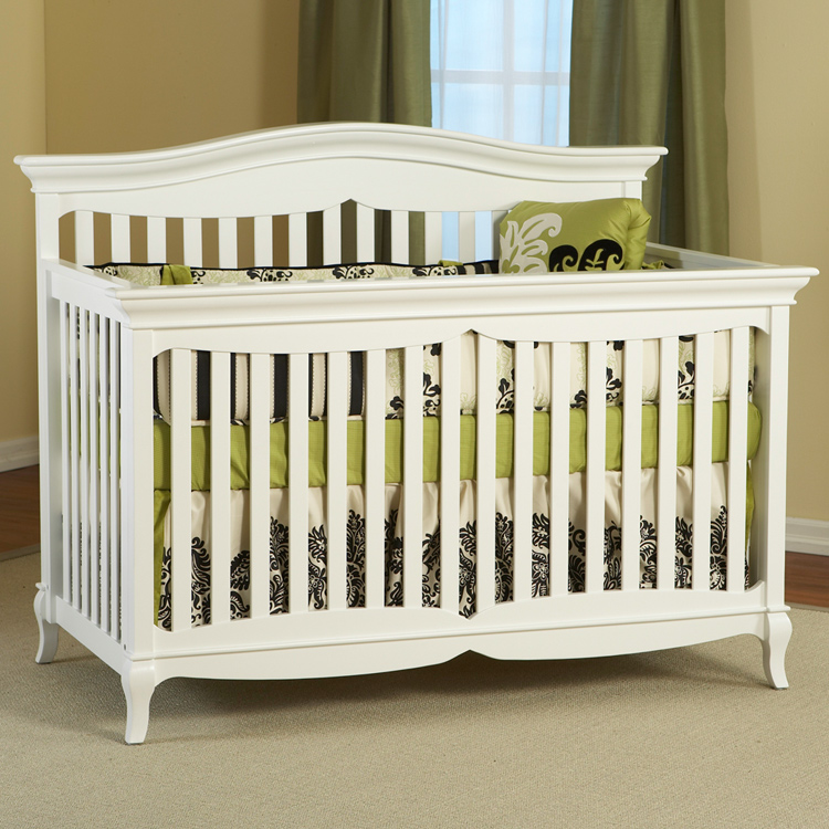 Pali Mantova 4 in 1 Convertible Forever Crib in White FREE SHIPPING