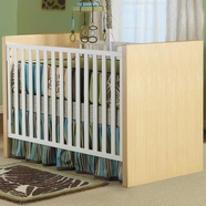Pali Milano Convertible Crib in Natural and White