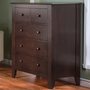 Pali Salerno 5 Drawer Dresser in Mocacchino