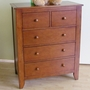 Pali Salerno 5 Drawer Dresser in Sienna
