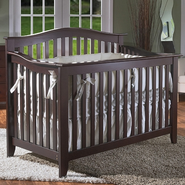 Pali Salerno Convertible Forever Crib in Mocacchino - Click to enlarge