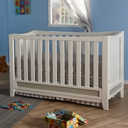 Pali Treviso Convertible Crib in White & Grey