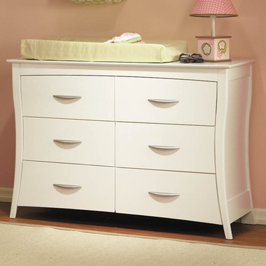 Pali Trieste Double Dresser In White   Click To Enlarge