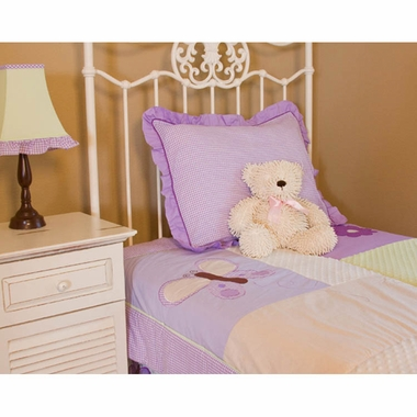 Pam Grace Creations Lavender Butterfly 3 Piece Twin Bedding Set