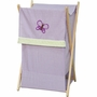Pam Grace Creations Lavender Butterfly Laundry Hamper