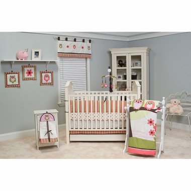 Pam Grace Creations Sweet Dream Owl 10 Piece Crib Set