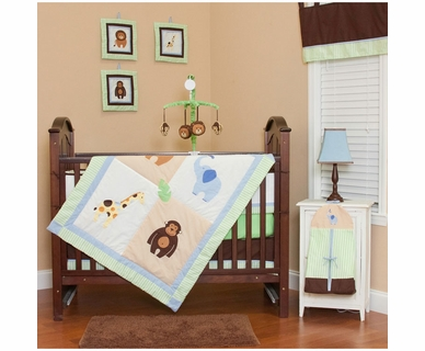 Pam Grace Creations Zoo Babies 10 Piece Crib Bedding Set