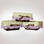 Pam Grace Lavender Butterfly Set of 3 Wicker Liners