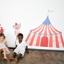Pop and Lolli Big Top Circus Tent Fabric Wall Decals