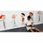 Pop and Lolli Brave Boys Fabric Wall Stickers