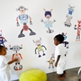 Pop and Lolli Build A Bot Fabric Wall Decals